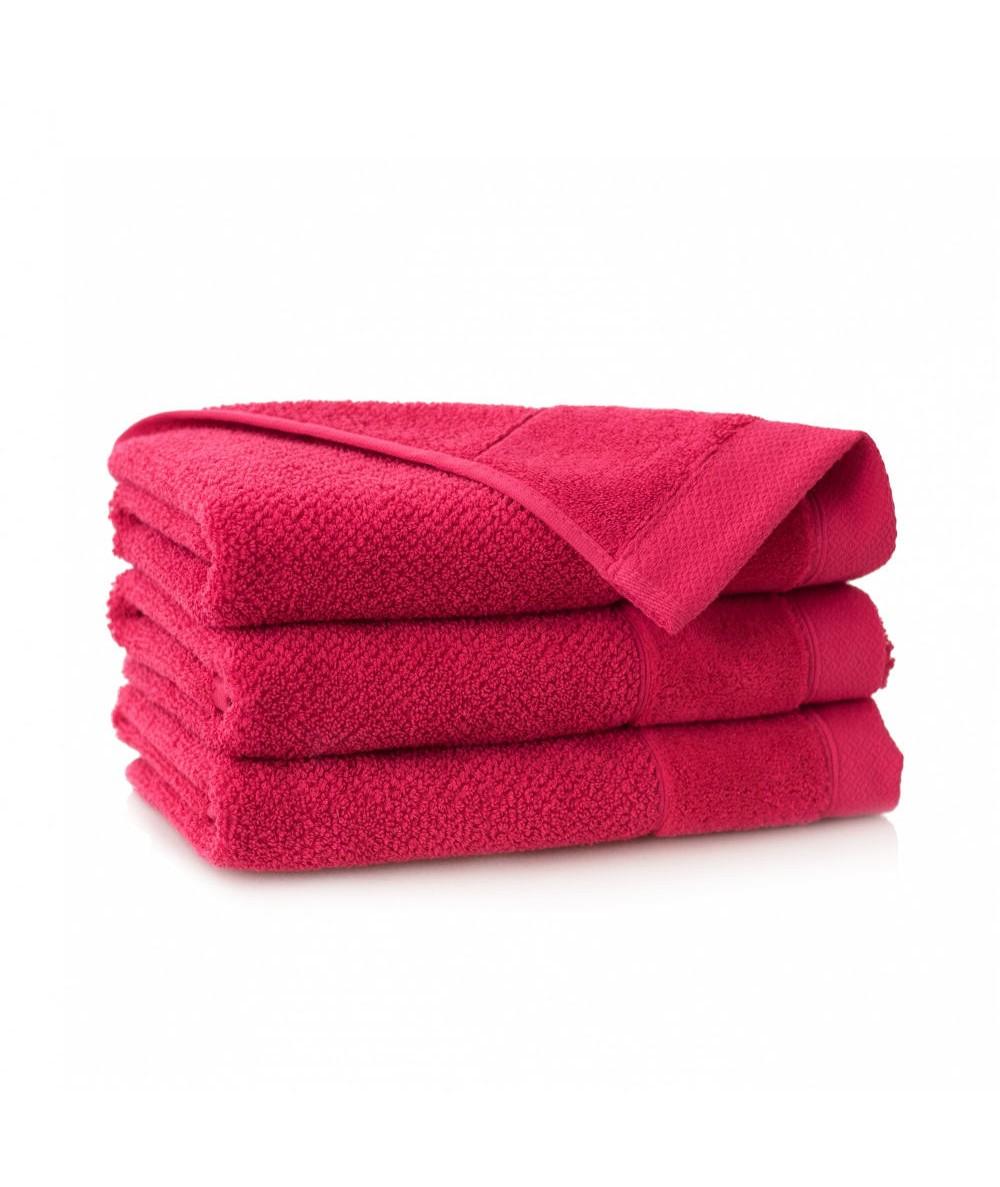Ręcznik Zwoltex Smooth bawełna malinowy