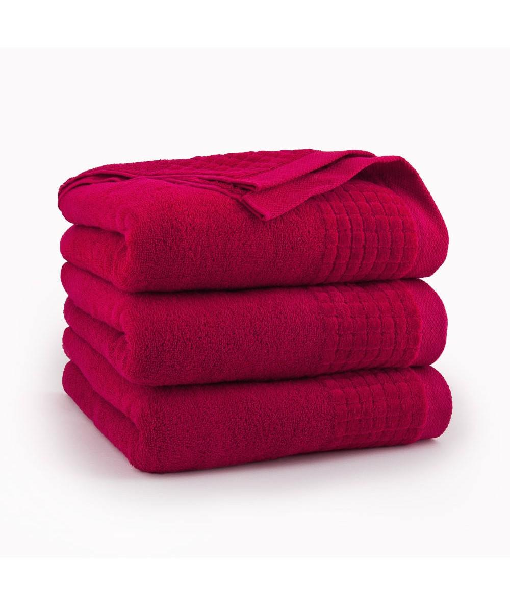 Ręcznik Zwoltex Paulo bawełna 50x90 czerwony