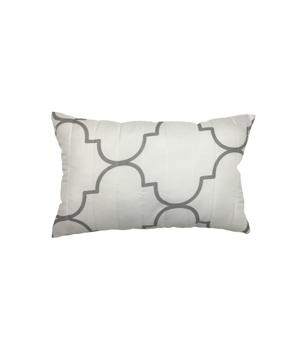 Poduszka Vege Home pikowana 30x50 Marocco biała