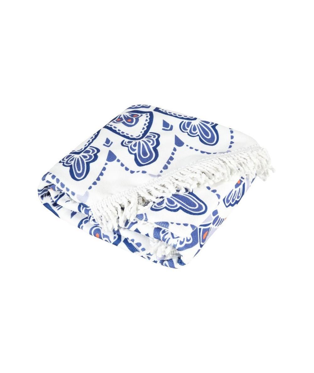 Ręcznik plażowy okrągły Havana I 150 niebieski