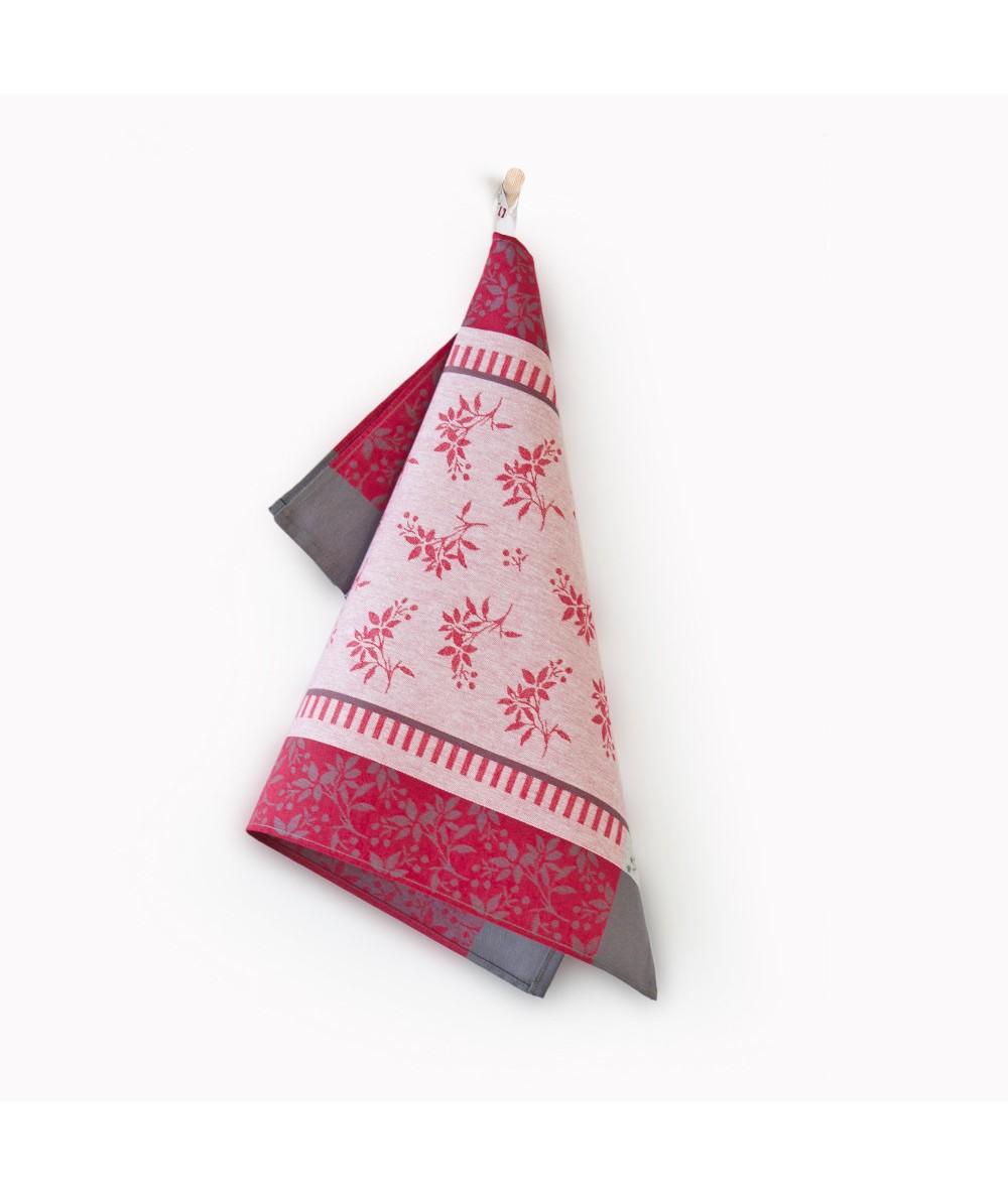 Ścierka Zwoltex Jarzębina bawełna 50x70 czerwona
