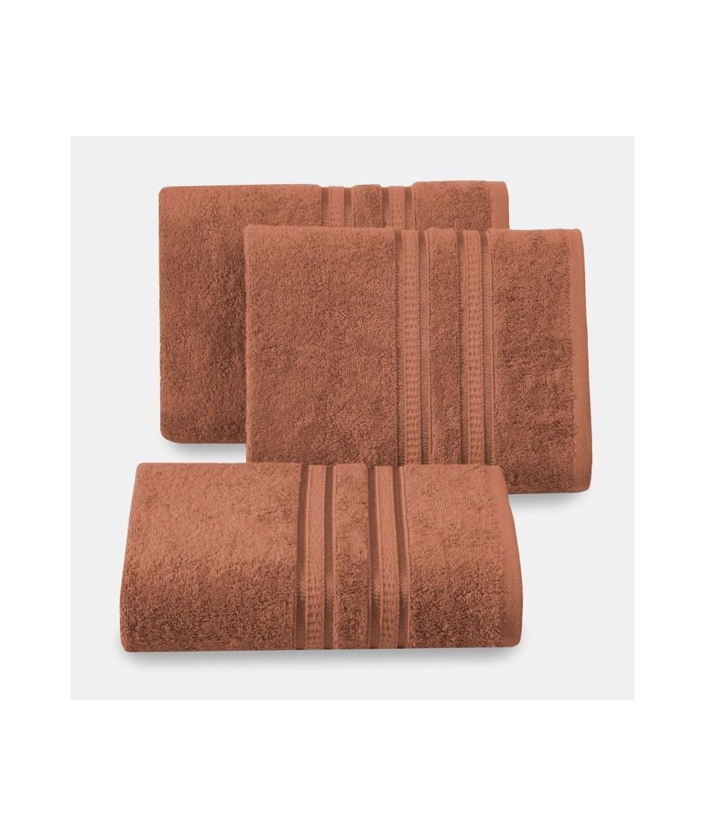 Ręcznik bambus Mila 70x140 ceglany