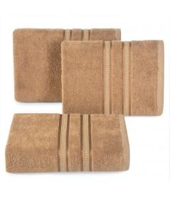 Ręcznik bambus Mila 70x140 jasnobrązowy