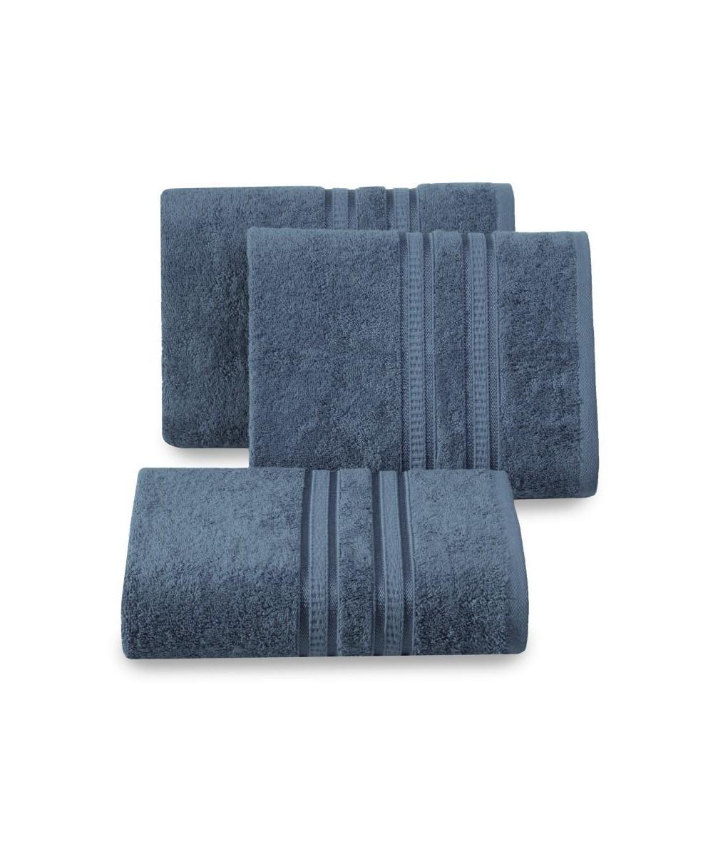 Ręcznik bambus Mila 50x90 granatowy