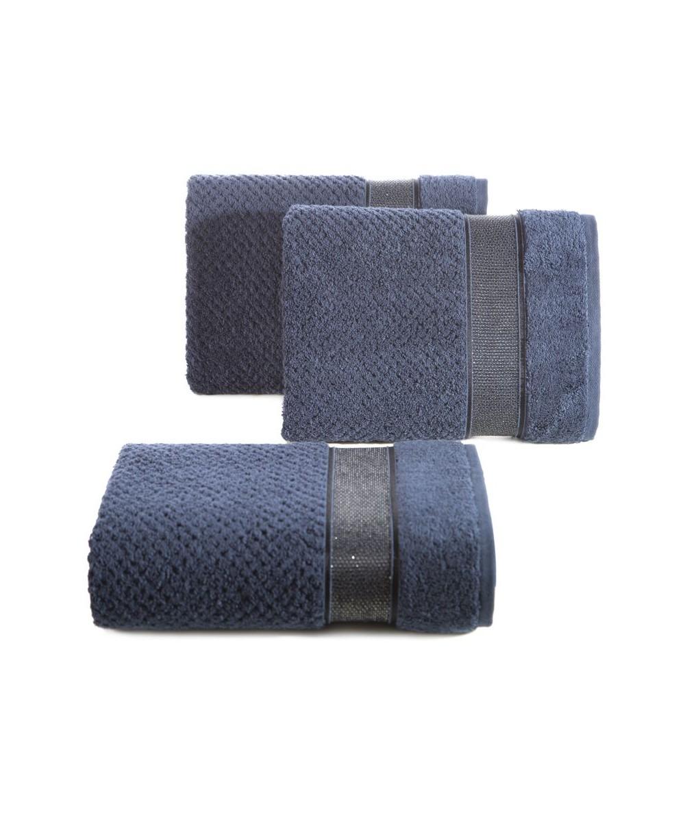 Ręcznik bawełna Milan 70x140 granatowy