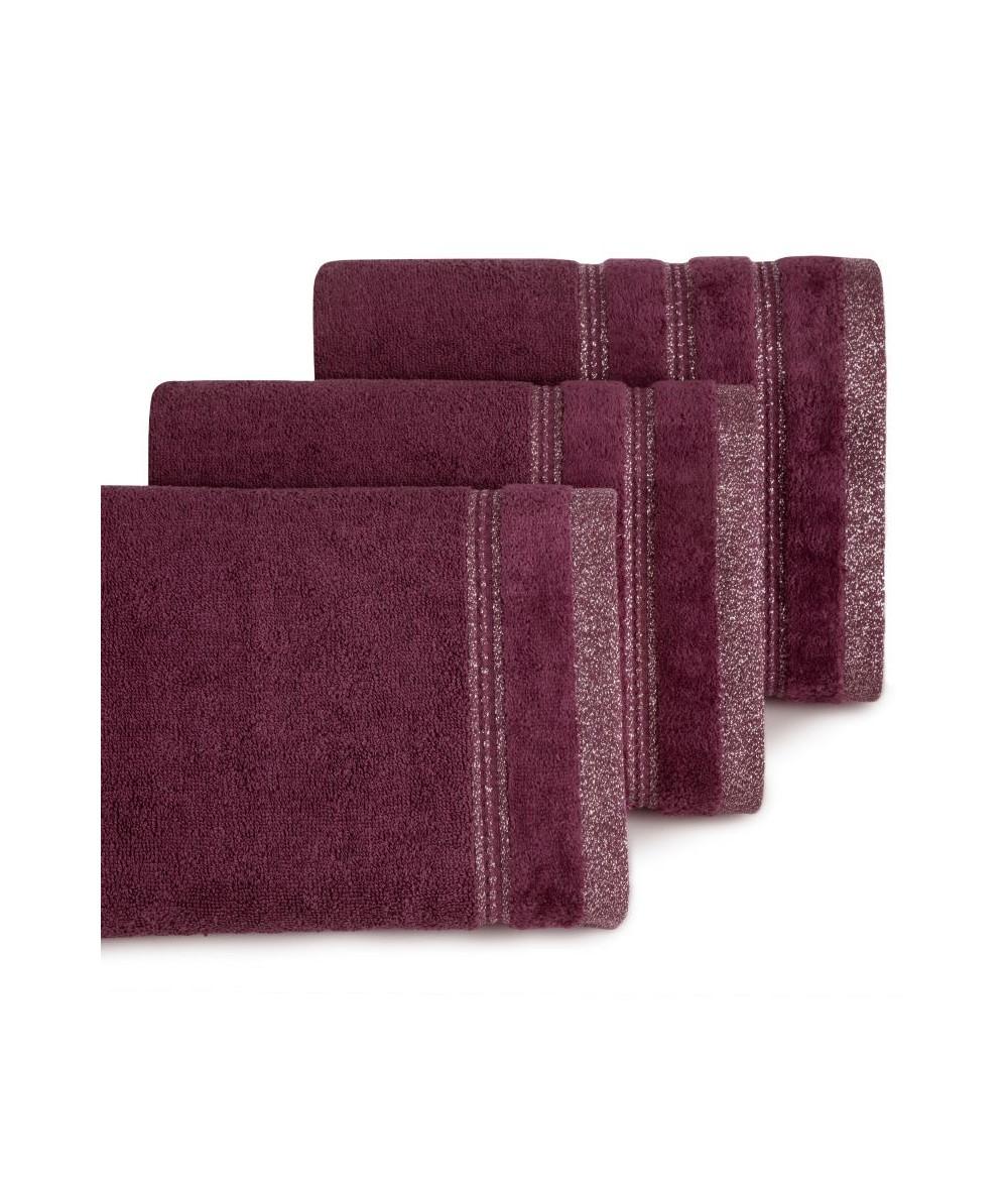 Ręcznik bawełna Glory 50x90 bordowy