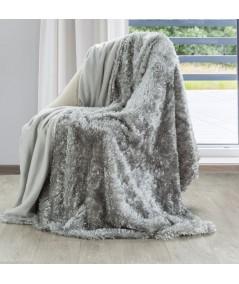 Koc futrzany narzuta Mavis 150x200 srebrny