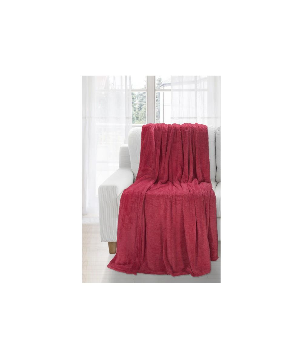 Koc futrzany narzuta Montana 150x200 czerwony