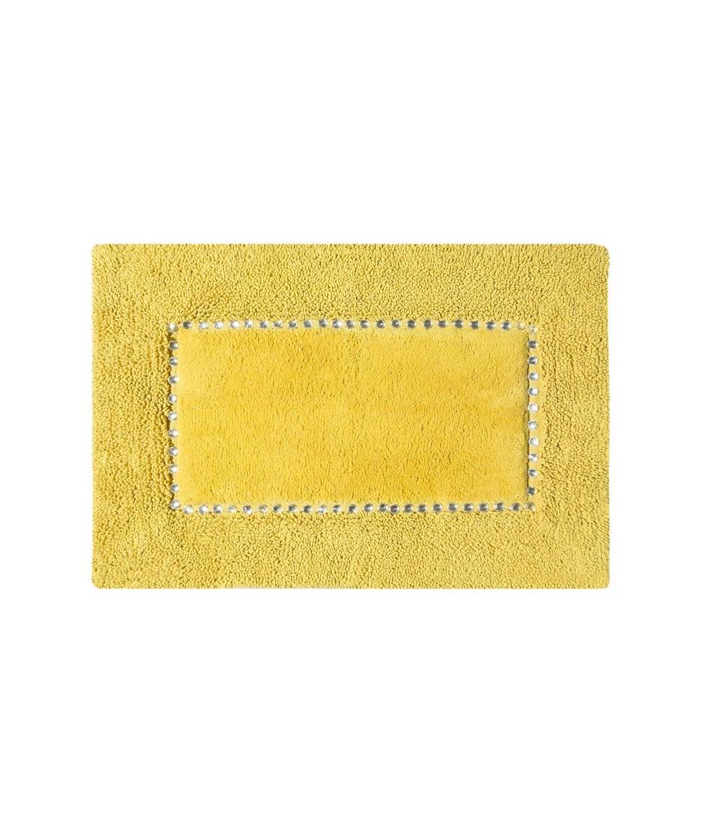 Dywanik bawełna z kryształkami Chic 50x70 musztardowy