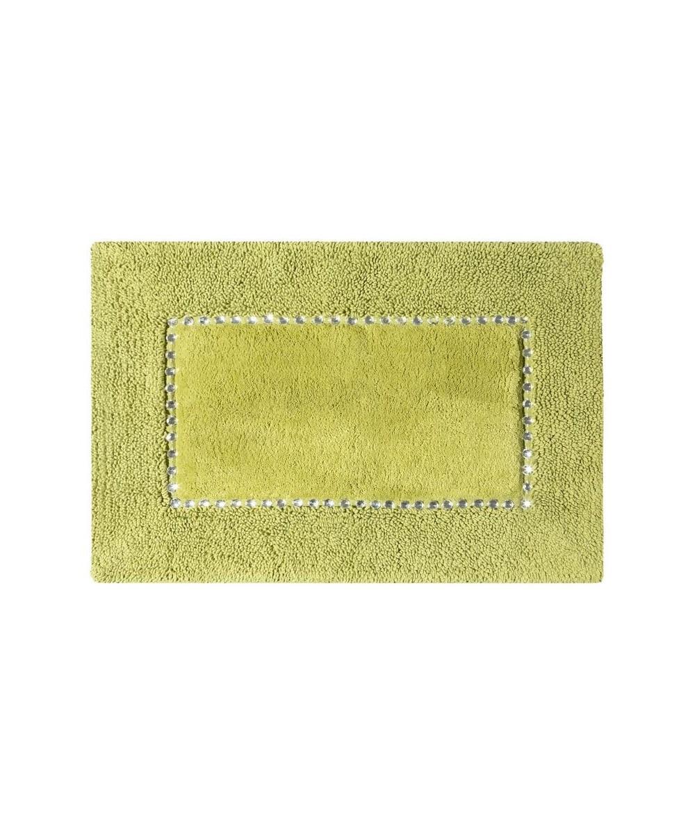 Dywanik bawełna z kryształkami Chic 75x150 oliwkowy