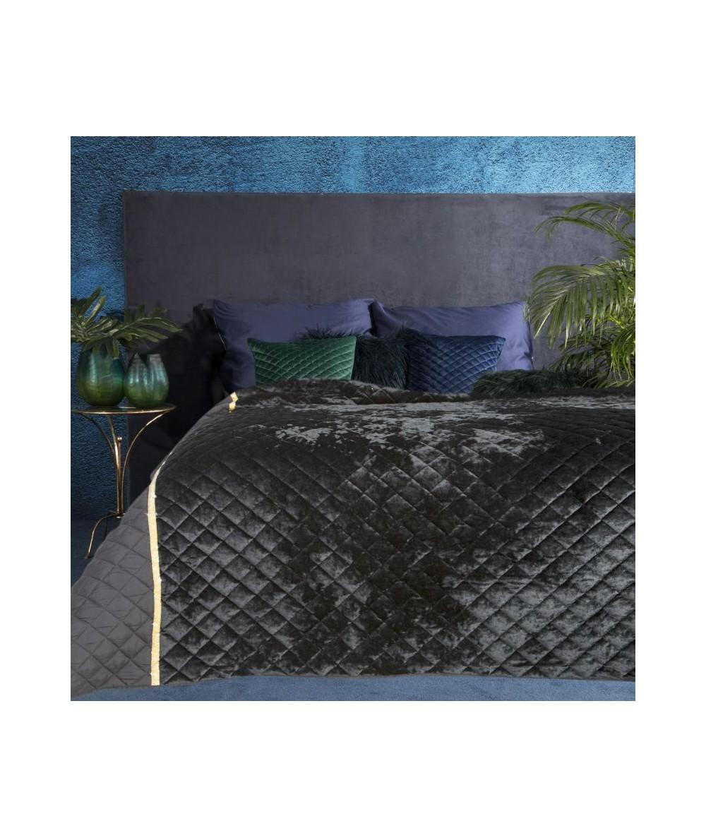 Narzuta velvet Kristin 220x240 czarna