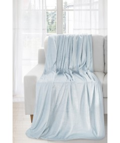 Koc pluszowy Iga 170x210 błękitny/srebrny