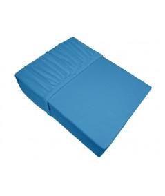 Prześcieradło bawełna jersey plus Bielbaw 200x220 z gumką błękitne