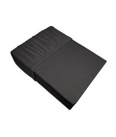 Prześcieradło bawełna jersey Frotex 140X200 z gumką ciemnopopielate