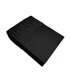 Prześcieradło bawełna jersey plus Bielbaw 200x220 z gumką czarne