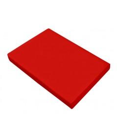 Prześcieradło satyna bawełniana 220x210 bez gumki czerwone