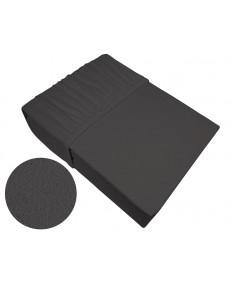 Prześcieradło bawełna frotte Frotex 140x200 z gumką ciemnopopielate