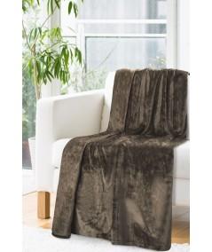 Koc pluszowy Soft 170x210 brązowy