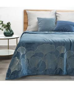 Koc pluszowy Ginko 150x200 niebieski