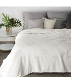 Koc pluszowy Stela 150x200 biały