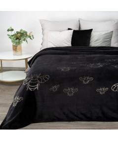 Koc pluszowy Stela 150x200 czarny