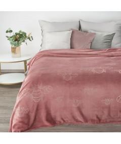 Koc pluszowy Stela 150x200 różowy