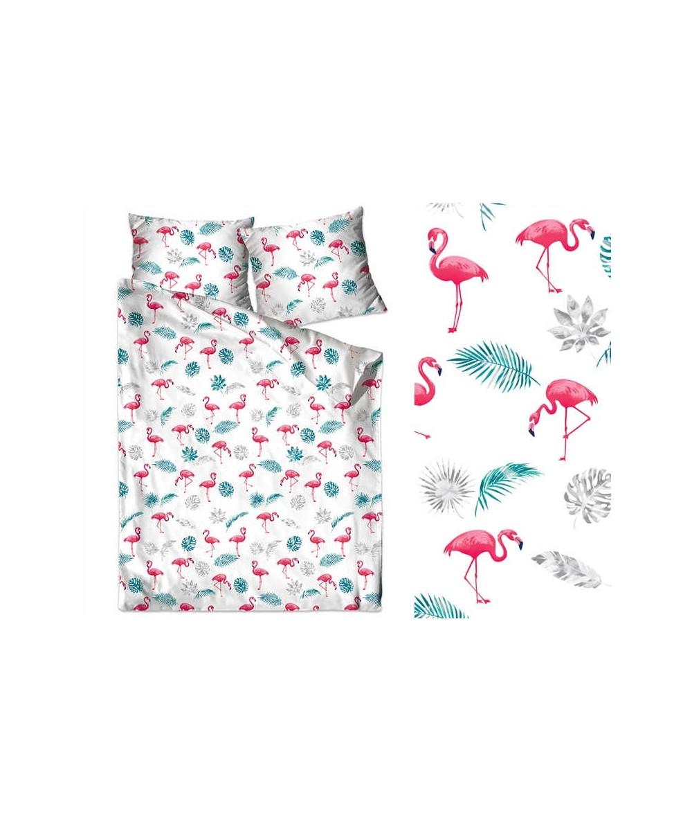 Pościel bawełna Bielbaw  z zamkiem Flamingi GRENO
