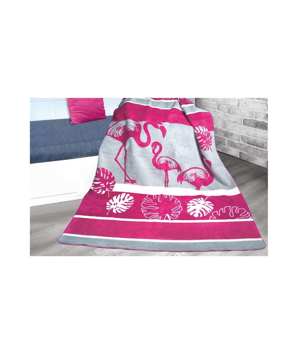 Polski koc bawełniany Glamour 150x200 Flamingo GRENO