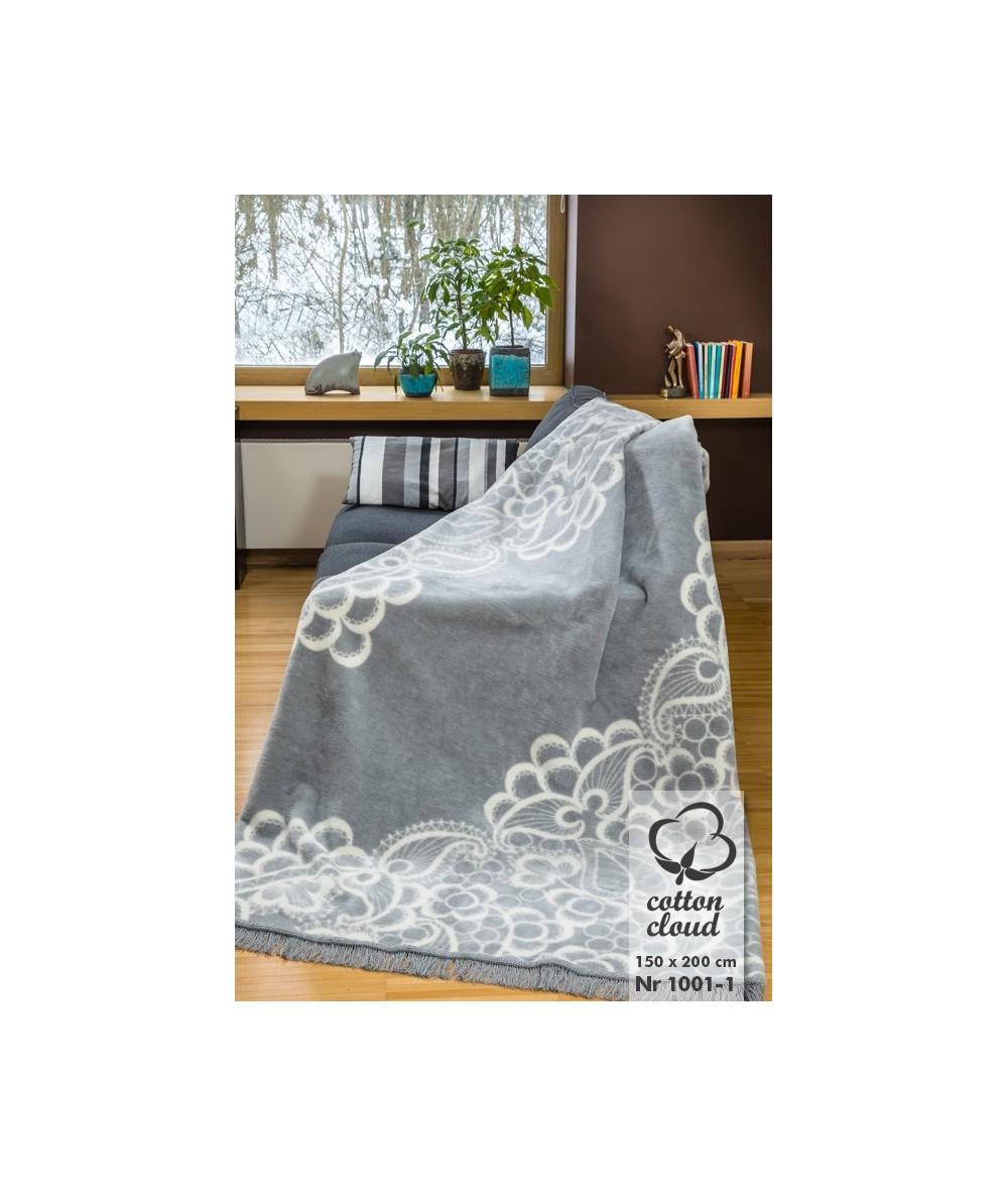 Polski koc bawełniany 150x200 Cotton Cloud Umipled 1001-1
