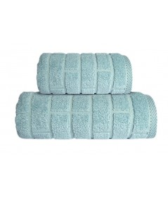 Ręcznik Brick mikrobawełna 50x90 Aqua GRENO