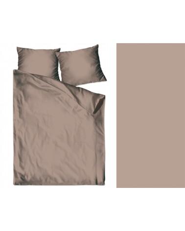 Pościel satyna bawełniana 200x220 + 2x70x80 beżowa