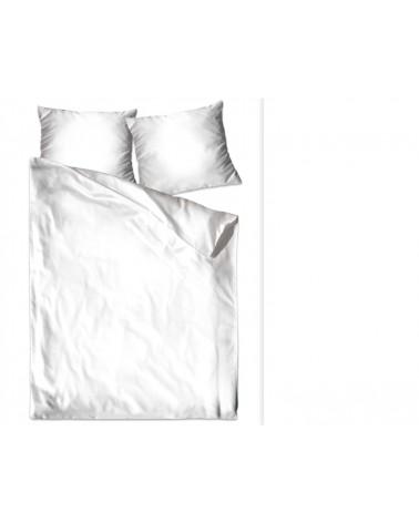 Pościel satyna bawełniana 200x220 + 2x70x80 biała