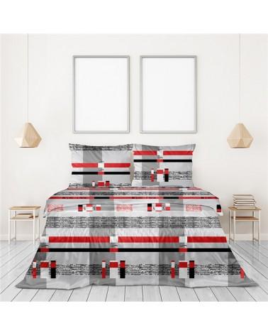 Pościel bawełniana Bielbaw 160x200 + 2x70x80 Dania czerwona