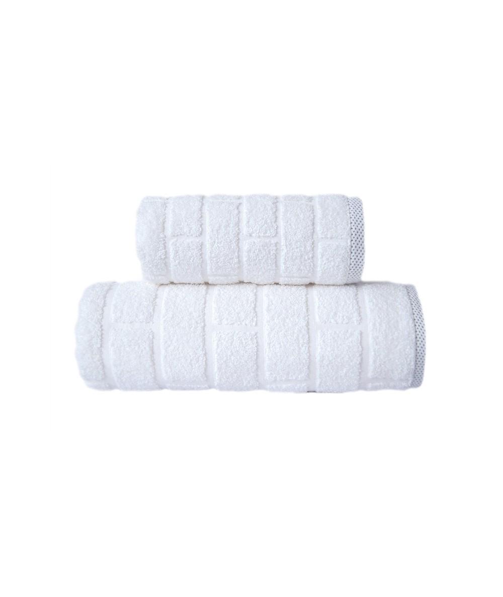 Ręcznik Brick mikrobawełna 70x140 Biały GRENO