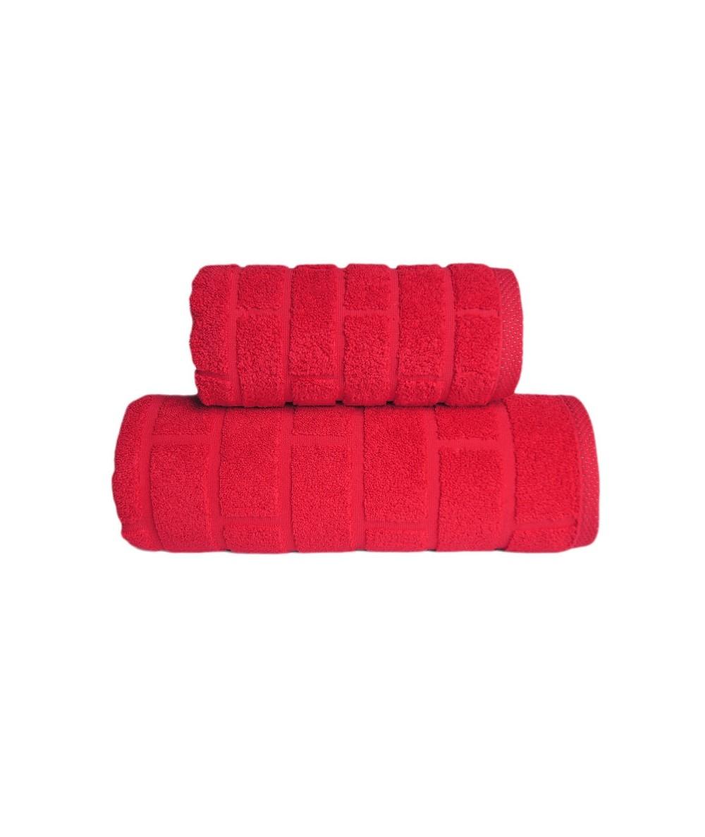 Ręcznik Brick mikrobawełna 70x140 Czerwony GRENO