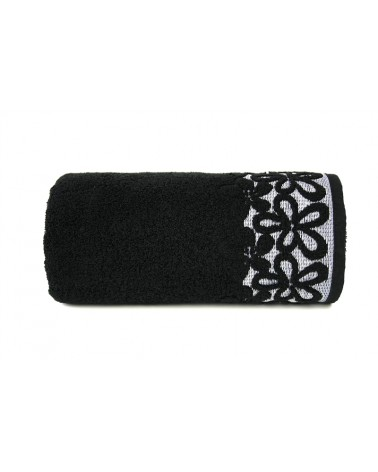 Ręcznik Bella mikrobawełna 30x50 czarny