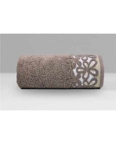 Ręcznik Bella mikrobawełna 30x50 czekoladowy