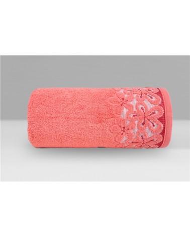 Ręcznik Bella mikrobawełna 30x50 koralowy