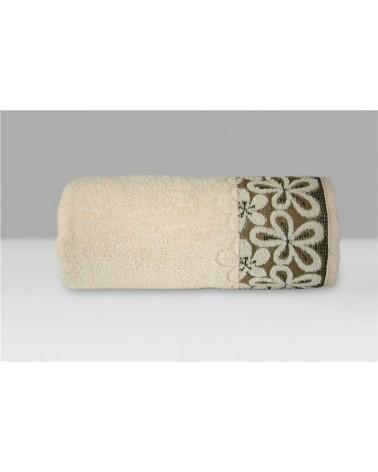 Ręcznik Bella mikrobawełna 30x50 kremowy
