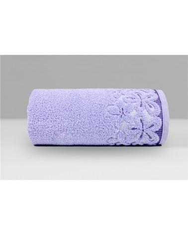 Ręcznik Bella mikrobawełna 30x50 lawendowy