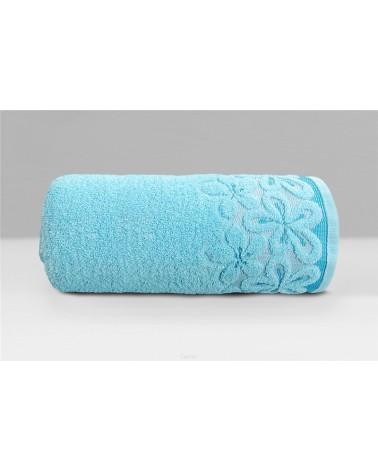 Ręcznik Bella mikrobawełna 30x50 lazurowy