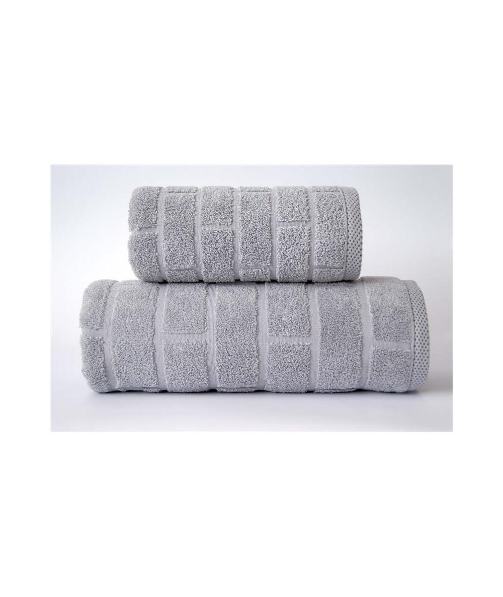 Ręcznik Brick mikrobawełna 70x140 Jasny popiel GRENO