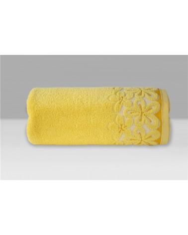 Ręcznik Bella mikrobawełna 70x140 żółty