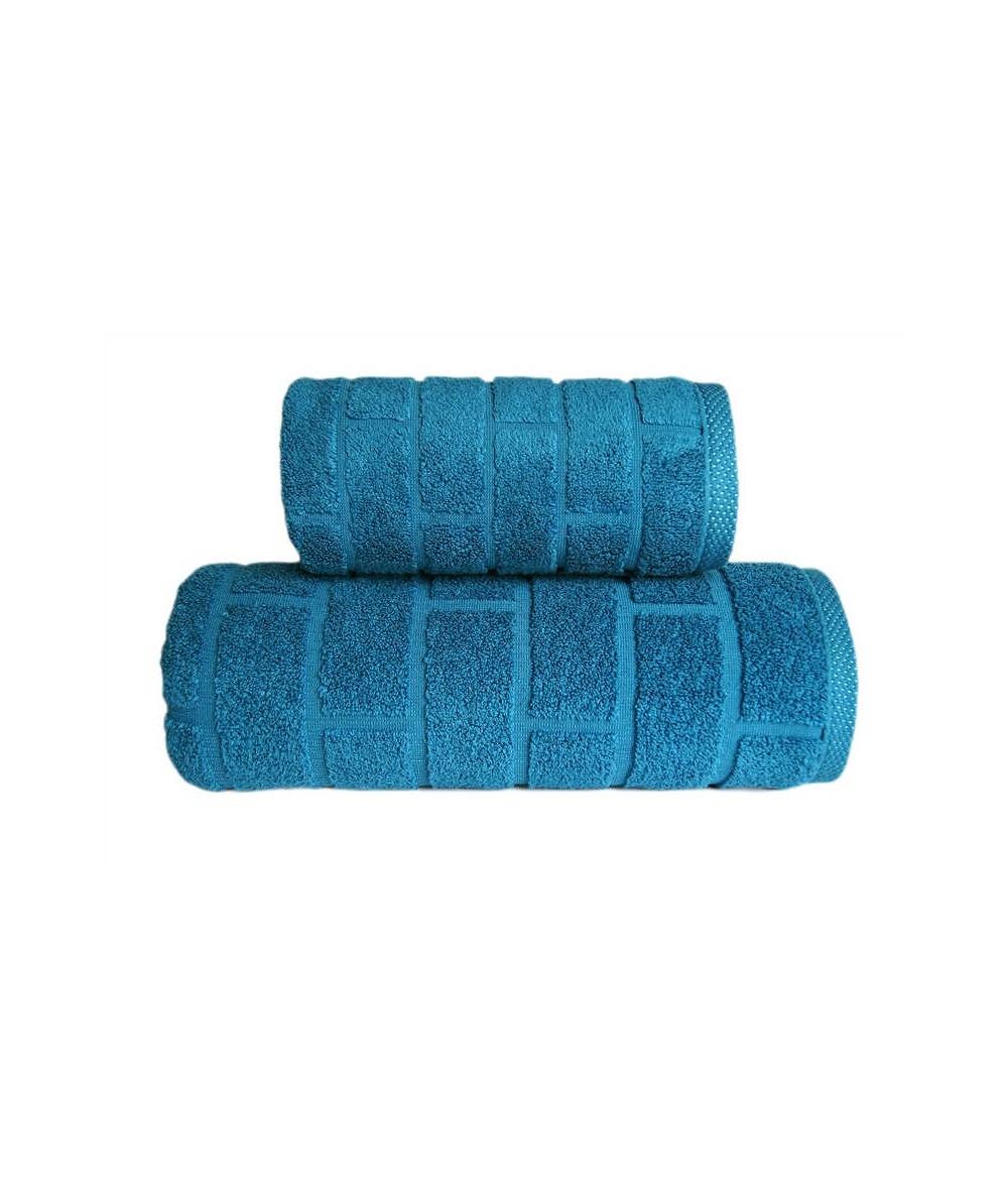 Ręcznik Brick mikrobawełna 70x140 Szmaragdowy GRENO