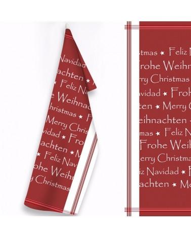 Ściereczka Kuchenna bawełna 50x70 Wesołych Świąt 1
