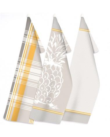 Zestaw Ściereczek Kuchennych 50x70 x3 III Ananas