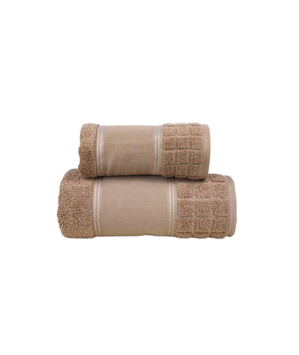 Ręcznik Special mikrobawełna 100x150 Brąz GRENO