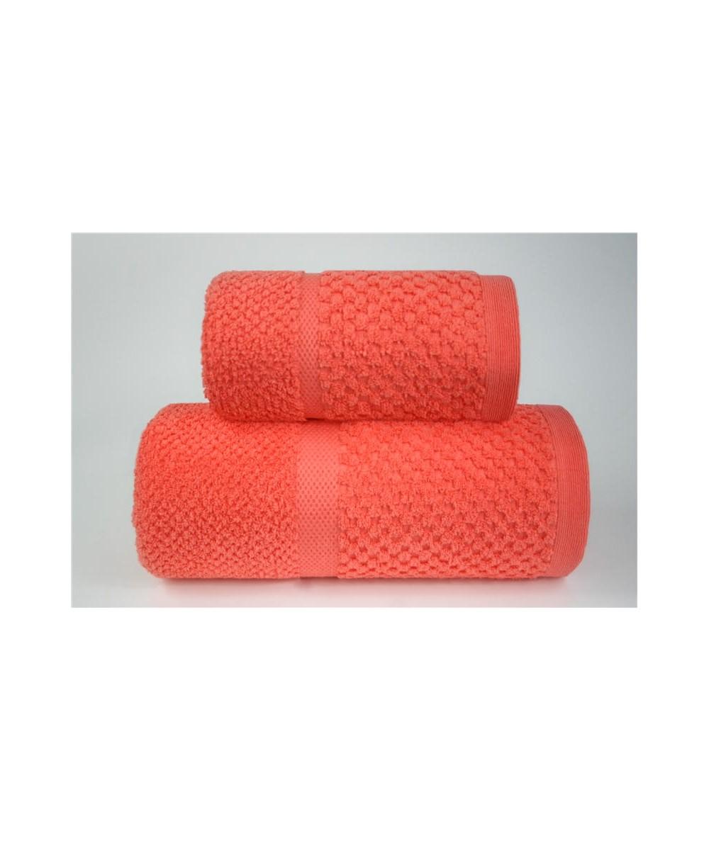 Ręcznik Summer Mess mikrobawełna 50x90 Koralowy GRENO