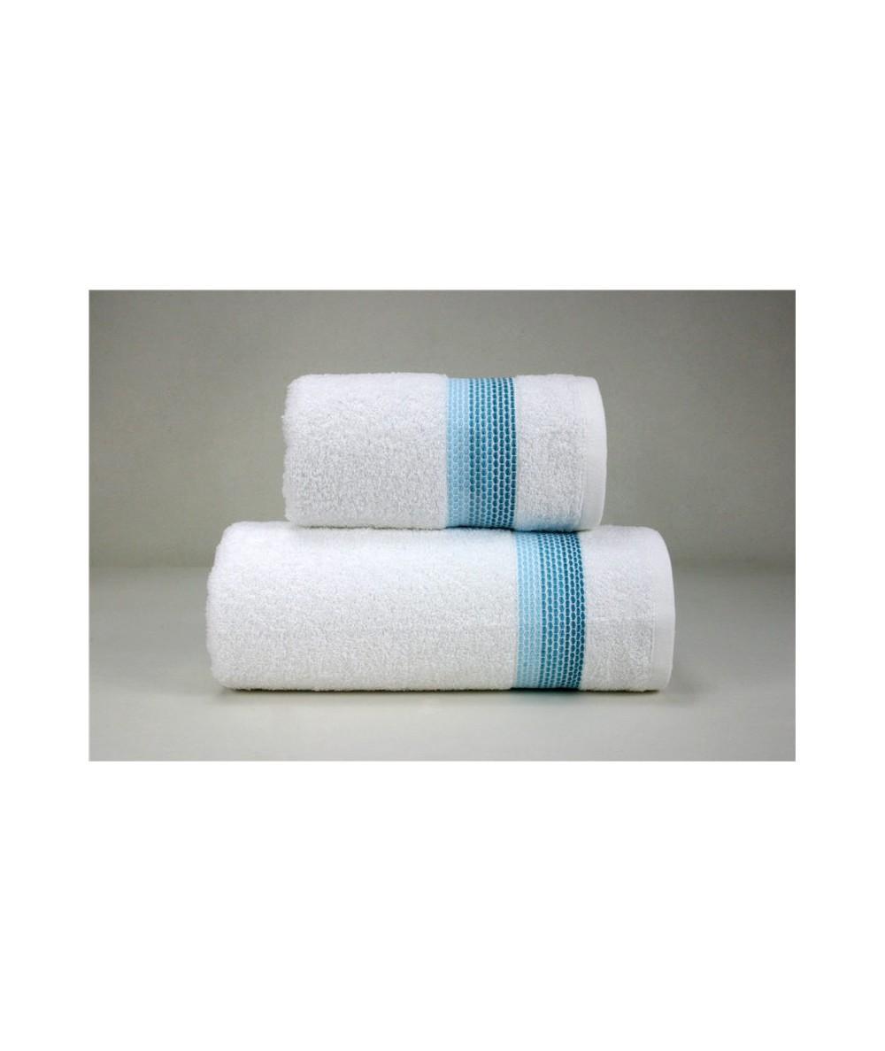 Ręcznik Ombre bawełna 50x90 Biały Aqua GRENO
