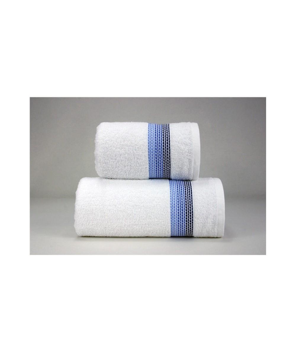 Ręcznik Ombre bawełna 50x90 Biały Granatowy GRENO
